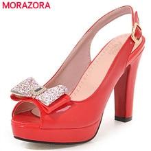 MORAZORA Slingbackds shoes woman in summer women