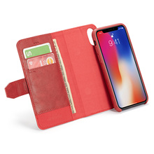 Luxury Magnet Phone Case for iPhone X Xr Xs Max 2 in 1 Protection Case Cover with Kickstand Card Slots for iPhone 6 6S 7 8 Plus newest luxury brand spain full grain leather case for iphone 6 7 phone back cover with card slots custom name