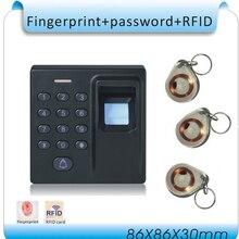 DIY D1 Fingerprint & password&125KHZ RFID 3 in 1 Special fire door access control system +10pcs crystal