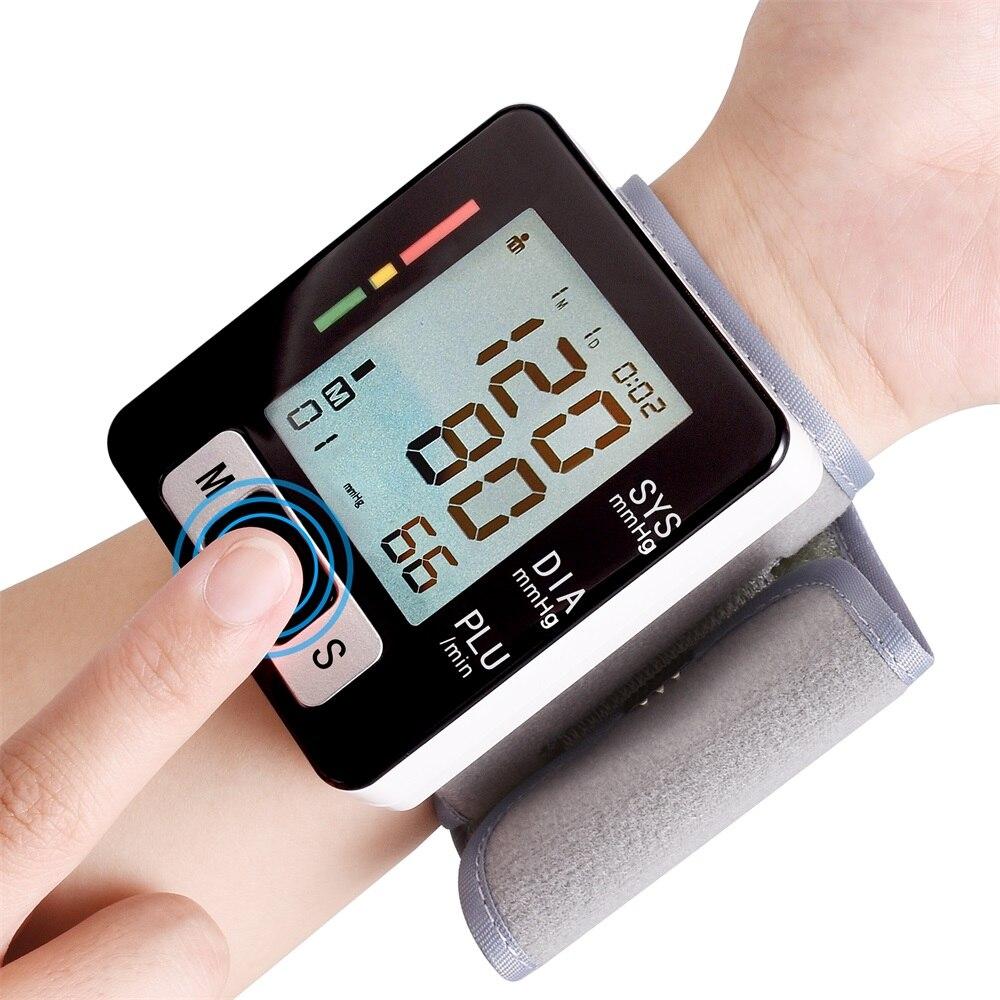 Pulso Digital Monitor de Pressão Arterial Automático Esfigmomanômetro Médica Inteligente Máquina de Medição Medida da Taxa de Pulso de Fitness