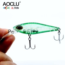 AOCLU wobbler Super Quality 6 Colors 75mm 5.5g Hard Bait Minnow Crank Fishing lures Bass Fresh Salt water VMC hook free shipping