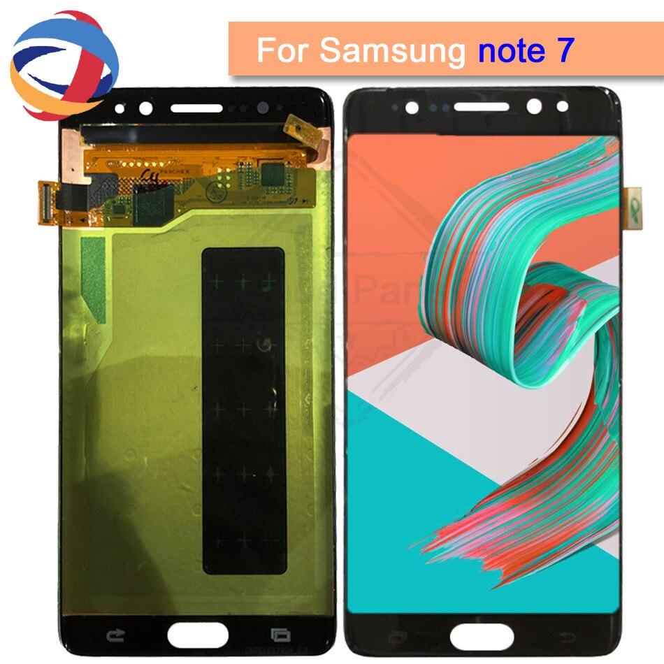 5.7For Samsung Galaxy Note7 note FE 7 N930 N930F G LCD displa écran tactile numériseur assemblée de remplacement pour Samsung note 7 LCD