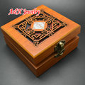 High Quality Chinese Style Wood Carved Bracelet Packing Display 10x10x5cm Jewelry Box