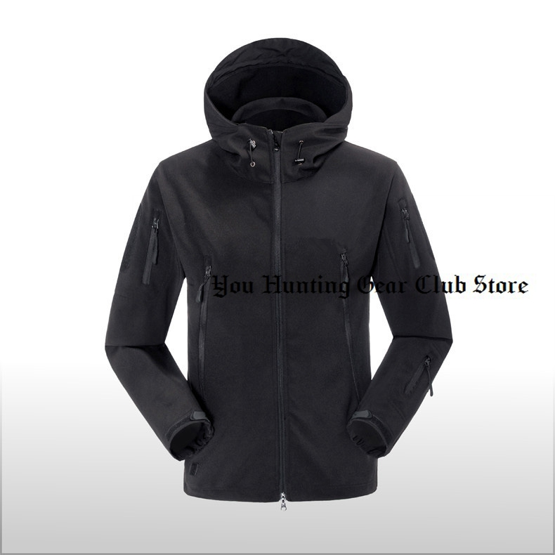 Black Green Men Outdoor Jacket Waterproof TAD Coat Shark Skin Soft Shell Hoodie Hunting Duty Jacket