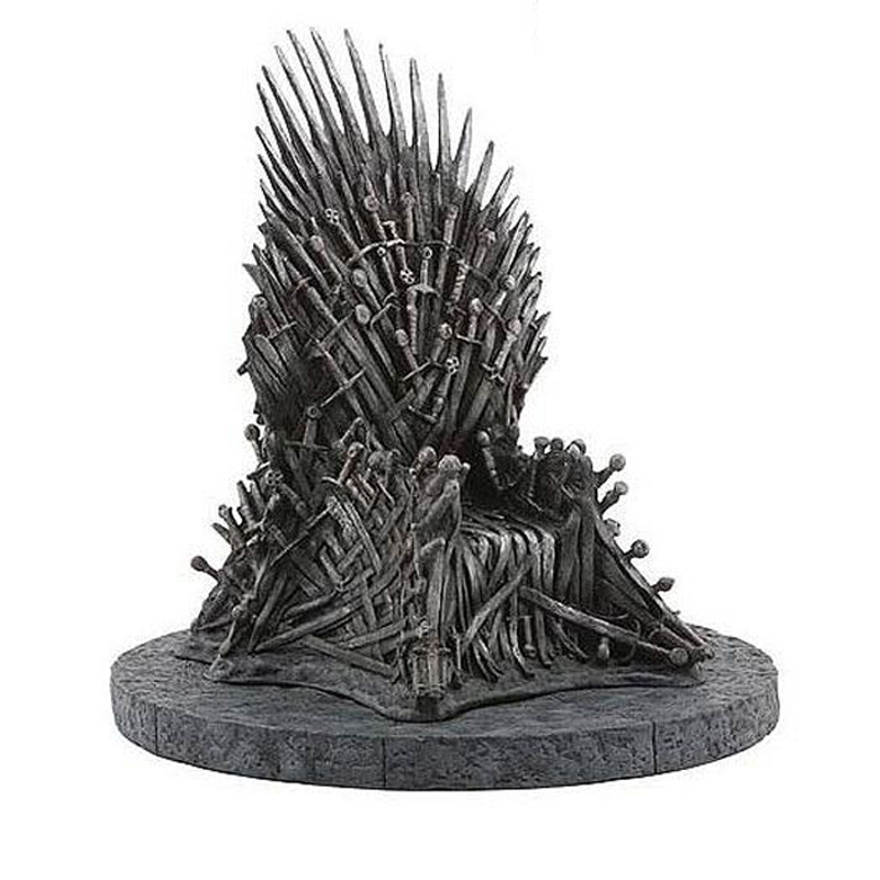 17cm Iron Throne Car Ornaments The Game Of Thrones A Song Of Ice And Fire Figures Home Decoration Iron Throne Toy Figures люстра fire small ornaments