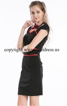 free shipping 2014 Women Sexy New Style Dress KNIE ROCKABILLY KLEID 50er PETTICOAT KLEID tartan dress 6-24