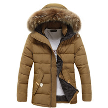 High Quality Men Cotton Jacket Brand Clothing Casual Warm Hooded Fur Collar Coats Winter Jackets Parkas