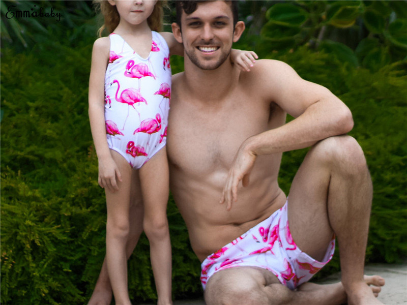 dd363f3b3367c Aliexpress.com   Buy Mother Father Kids Family Matching Couple Swimsuit One  pieces Shorts Women Push Up Bikini Set Men Trunks Shorts Kid Swimwear from  ...