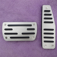 For Chevrolet Captiva Fuel Brake Foot Rest AT Pedals Plate Non Slip Accelerator Brake Pedal Pads