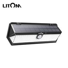Litom CD196 Solar Light Outdoors Motion Sensor Night Security Wall Lamp 122 LED Waterproof Energy Saving Garden Front Door Yard