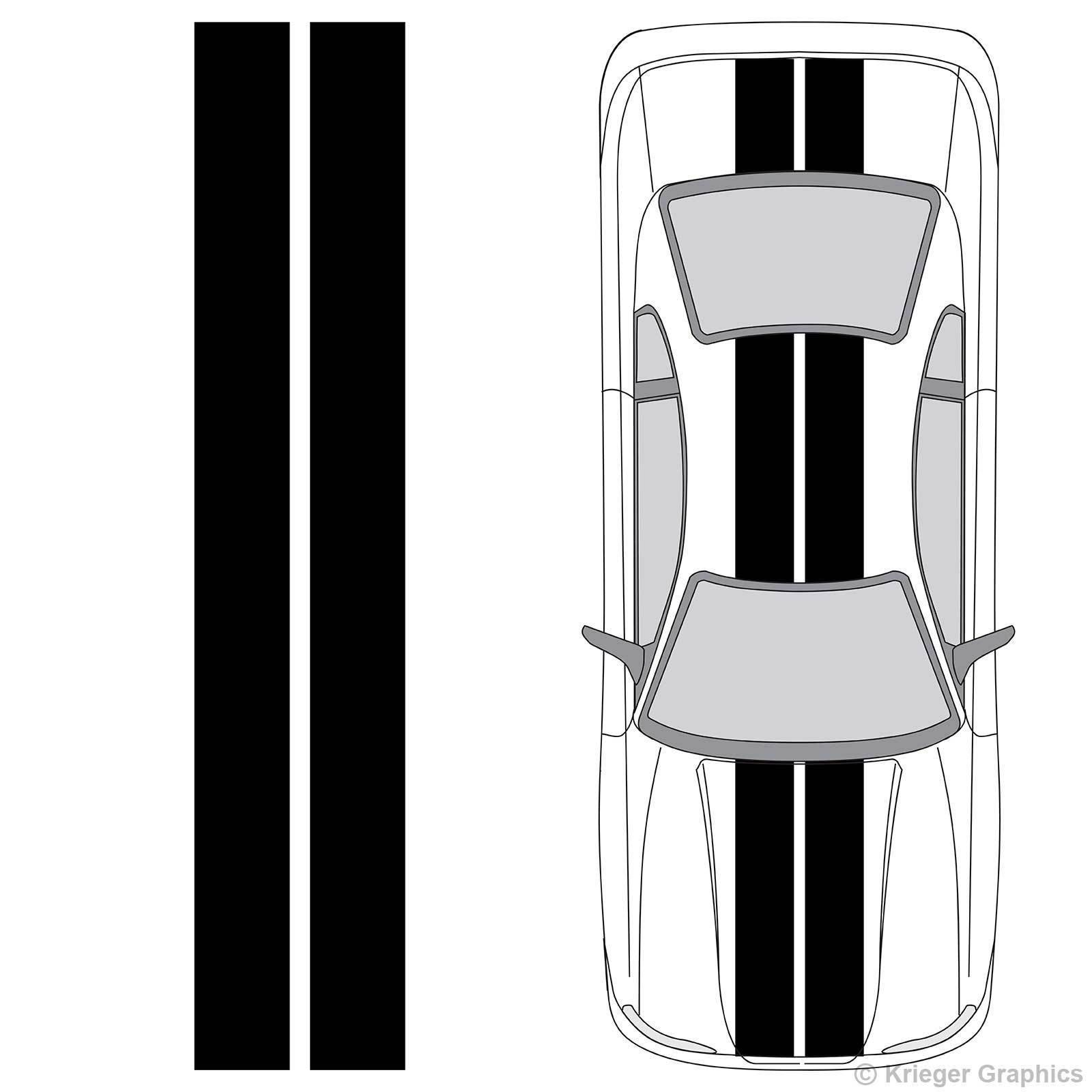 """For Universal Vinyl 10"""" Solid Racing Stripes any Car or Truck Decals 10in 10 inch Car styling"""