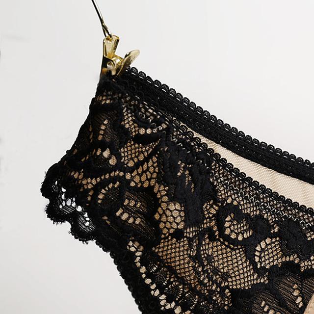 Cotton breathable underwear Hollow briefs Plus Size