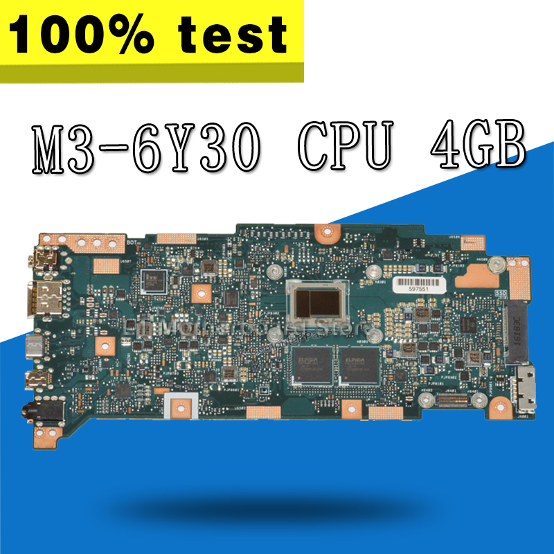 UX360CA Motherboard M3-6Y30 CPU 4 gb For ASUS UX360C UX360CA Laptop motherboard UX360CA Mainboard UX360CA Motherboard test OK цена и фото