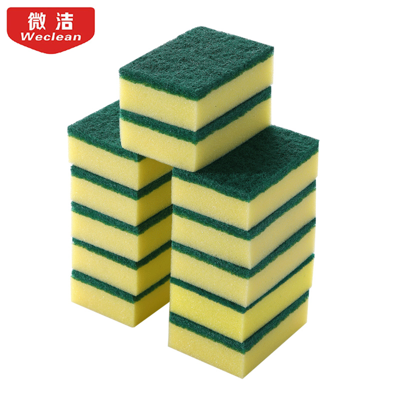 12 pcs New Arrival Kitchen Cleaner wipping rags efficient sponge Fiber Cleaning Cloth ho ...