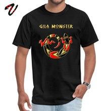 Gila Monster Round Collar T Shirt Summer Fall black Tops Short Hunter Classic Dragon Ball Cool Design Men