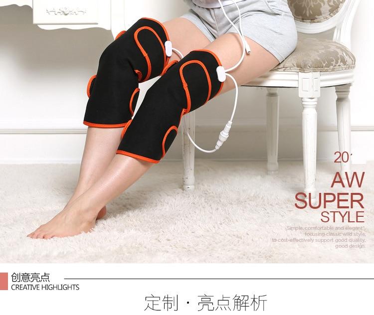 Electric Fever Knee Pads Arthritis Old Cold Leg Magnetic Therapy Shake Massage Leg Warmers недорго, оригинальная цена