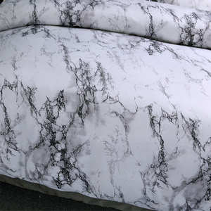 Image 5 - 12 ألوان طقم سرير الشمال الحديثة نمط الرخام نمط لحاف مطبوع مجموعة غطاء مزدوج كامل الملكة سرير ملكي الكتان 8 الحجم