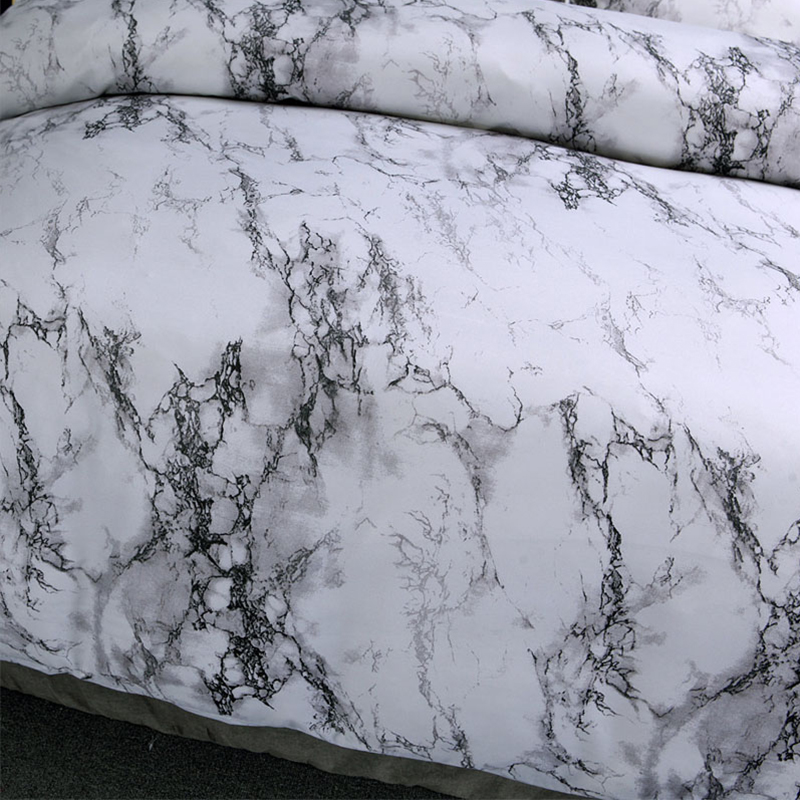 Image 5 - 5 Colors Bedding Set Nordic Modern Style Marble Pattern Printed Duvet Cover Set  Double Full Queen King Size Bed Linen 8 Size-in Duvet Cover from Home & Garden