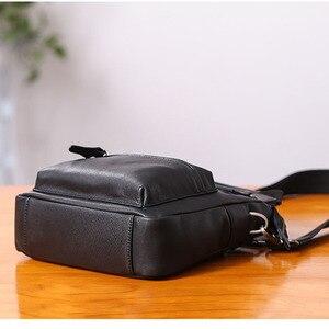 Image 4 - AETOO حقيبة يد صغيرة للرجال جلد عمودي الأعمال عادية الكتف قطري عبر الجسم حقيبة رجالية جلدية