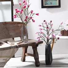 Get more info on the Xuanxiaotong 1PCS 90cm Giant Magnolia Faux Branches for Wedding Decoration Artificial Flowers Orchid Flores Table Home Decor
