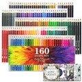 120/136/160 farbige Bleistifte für Erwachsene-Färbung Bleistifte Sets Für Färbung Bücher Skizze Pads