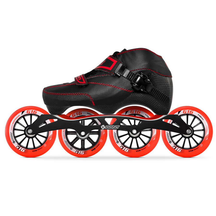 100% Original Bont Enduro 3PT vitesse patins à roues alignées moulables en Fiber de carbone S-frame7 de démarrage G16 100/110mm roues Patines
