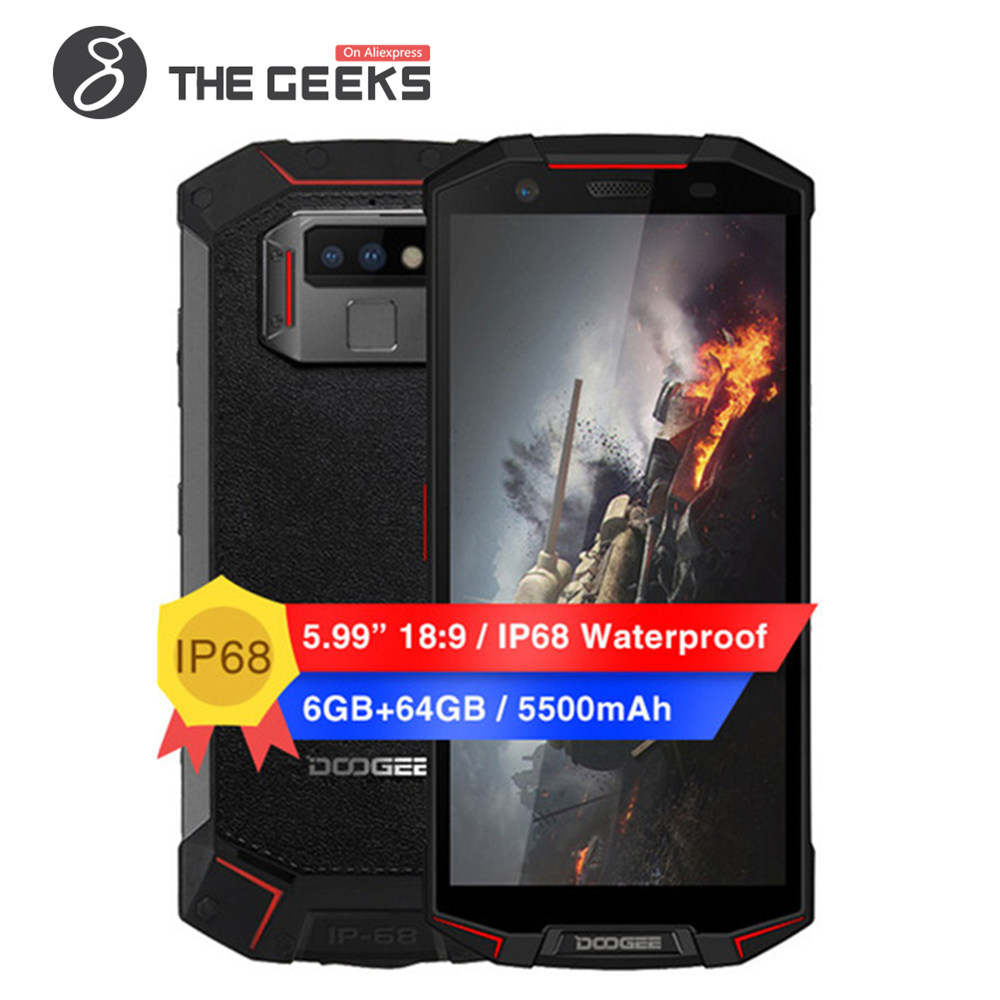 Купить DOOGEE S70 IP68 Водонепроницаемый мобильного телефона Android 8,1 5,99