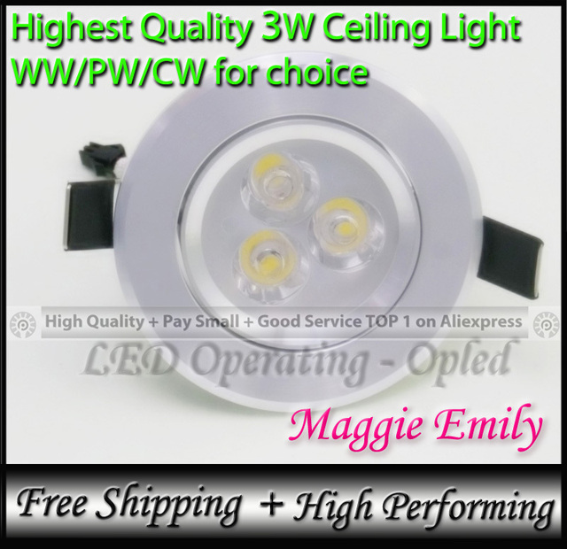 Ceiling Mounted Led Light Fixtures 3w High Power Bright