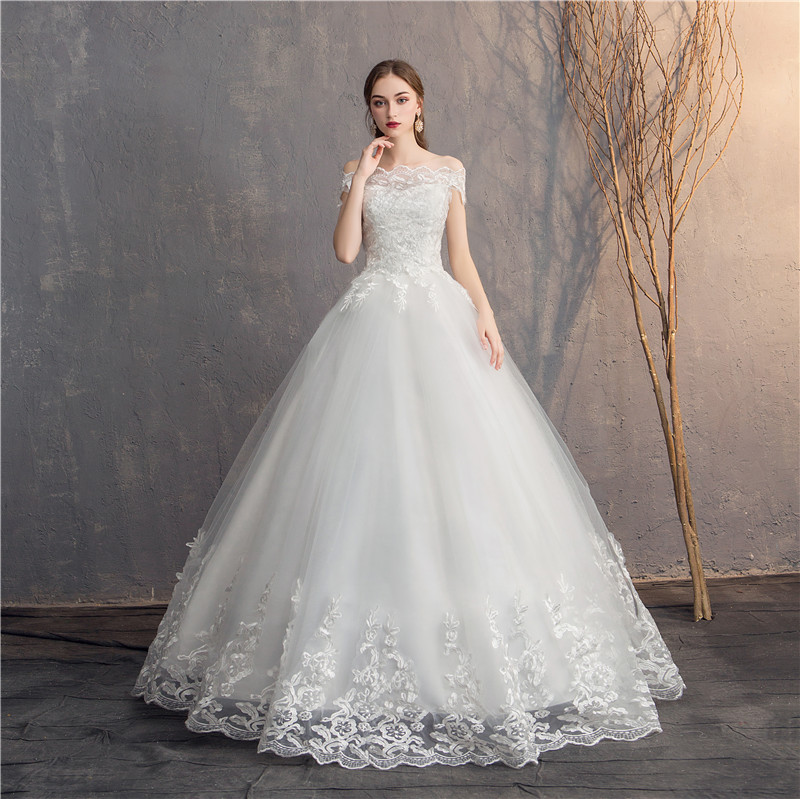 Do Dower 2019 Off The Shoulder Lace Wedding Dress Cheap Bridal Dress Made In China Simple Embroidery Vestido De Noiva
