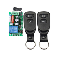 Wireless Remote Control Light Switch 10A Relay Output Radio 220V 1 Channel Receiver Module 50 500M