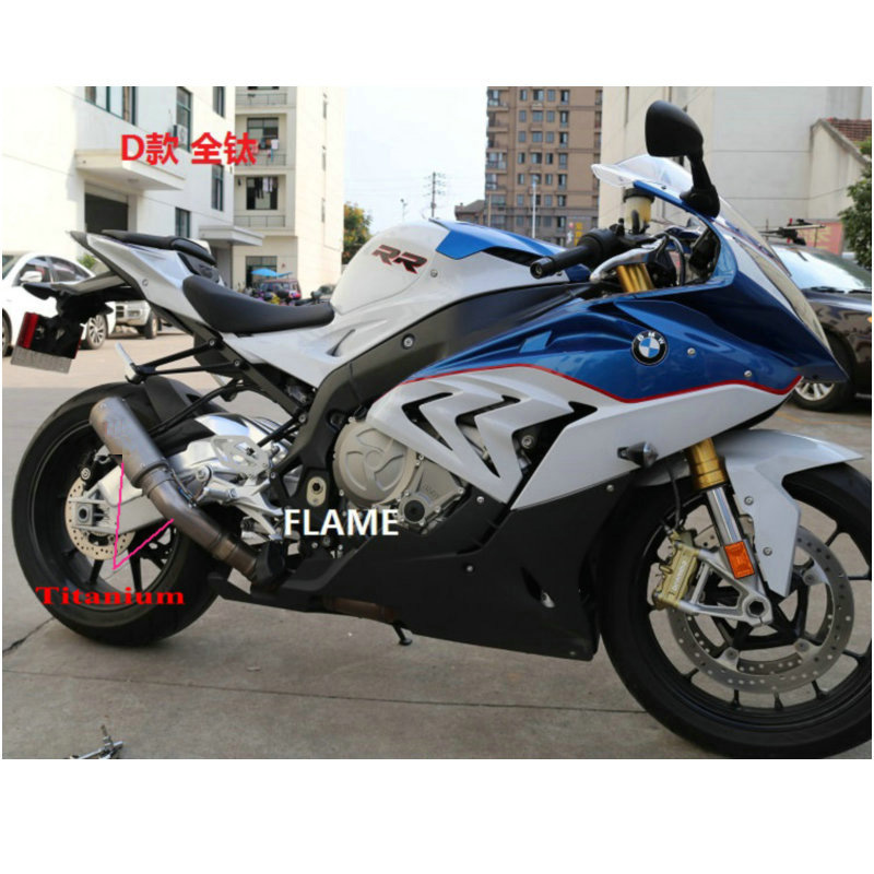 New Titanium Exhaust Pipe For Bmw S1000rr 2015 With Middle Pipe Moto