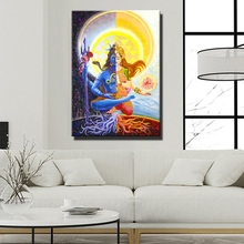 Фотография Lord Shiva Wall Posters And Prints, Hindu Gods Canvas Paintings On The Wall, Unframed Pictures Indian God For Living Room Wall