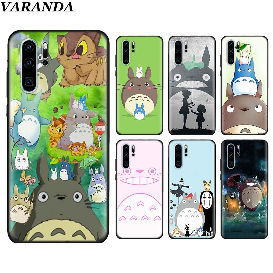 100% Kwaliteit Pug Totoro My Neighbor Zwart Zachte Gevallen Voor Huawei P30 P30 Pro P10 P20 Lite P Smart View 20 Zachte Siliconen Cover Coque Pure En Milde Smaak