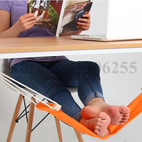 1Piece Modern FUUT Desk Orange Feet Hammock Portable Soft Foot Hammock For Home Office Outdoor Desk