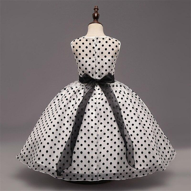 3f97ea1ed8 Piękne czarne kropki tanie flower girl sukienka na wesele party pierwsza  komunia sukienki dla dziewczynek vestido longo sukienka komunii świętej w  Piękne ...