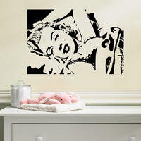 Marilyn Monroe Avatar Vinyl Wall Decal Home Decor Bedroom Famous People Art Mural Wallpaper Removable Wall Stickers