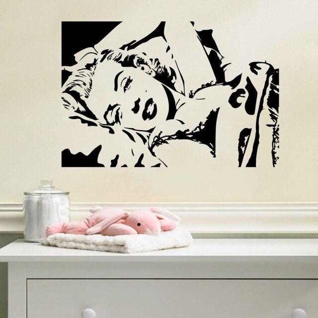 Adesivi Murali Personaggi Famosi.Marilyn Monroe Avatar Della Parete Del Vinile Della Decalcomania