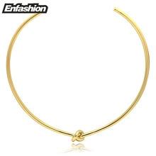 Nudo de la cuerda de oro de las mujeres collar de moda collares colgantes choker collar declaración collares joyería 2016 nueva kolye colar collier
