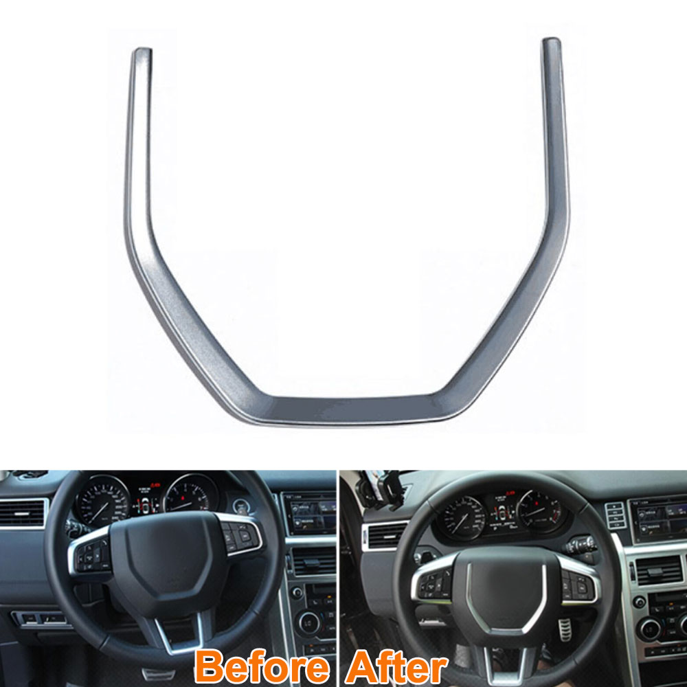 ABS Inner Car Steering Wheel Cover Trim Molding Frame Decoration For 2015 Land Rover Discovery Sport Car Styling
