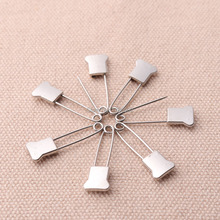 30Pcs /lot 25*8mm decorative metal safety pins	for garment accessories