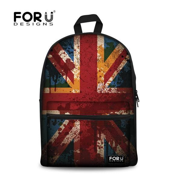 63461f1886 2017 Fashion Korean Style Women Backpack UK US Flag Printing Backpack  Casual Kids School Bags for