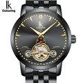 IK оригинальные мужские золотые часы автоматические механические часы мужские наручные часы с скелетом из нержавеющей стали люксовый бренд...