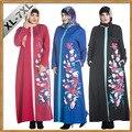 Caftan Top Adulto 2016 São Pura Novo Nacional da Coreia Do Sul Oriente médio Muçulmano Vestido Ma Impressão de Manga Comprida Vestido de Costura