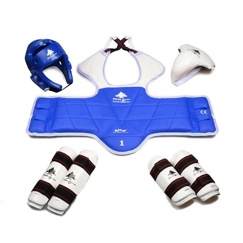 Pintree TKD WTF Approved TAEKWONDO Sparring Gear Set (Helmet, Forearm, Shin  Protector & Free Double Chest Guard,Groin Guard) free shipping wesing women karate chest guard female boxing chest protector approved wkf
