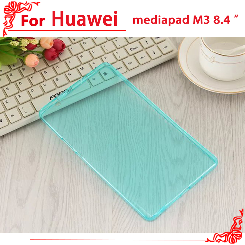 Ultra Slim TPU Case For Huawei MediaPad M3 BTV-W09/DL09 8.4-inch Tablet For Huawei MediaPad M3 case Cover super slim leather case cover for huawei mediapad m3 btv w09 btv dl09 8 4 inch case tablet funda flip original ultra stand shell