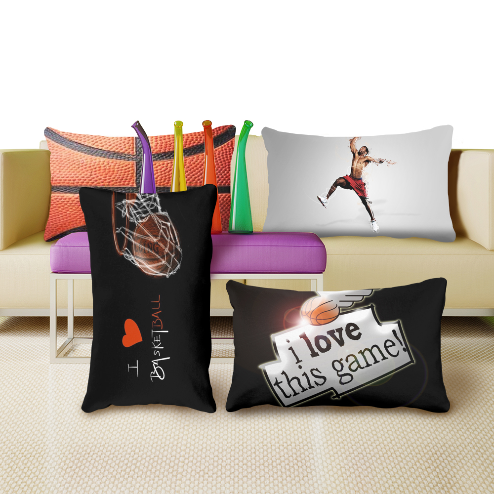 me encanta el baloncesto rectangle almohada decorativa funda de almohada juego de cama caliente cmodo