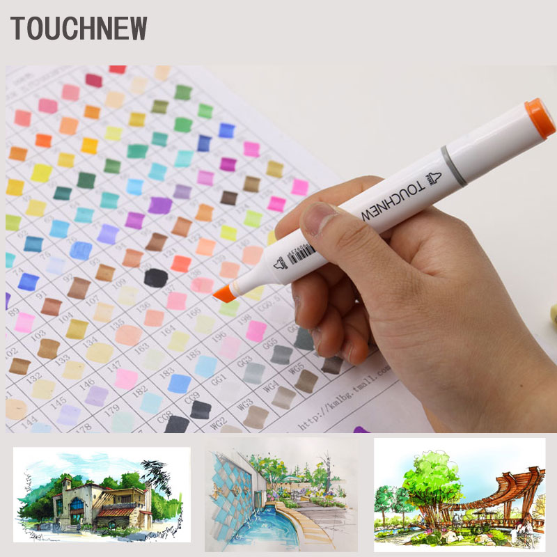 Touchnew 168 Colors Art Marker artistic sketch markers Double Tips alcohol based  Professional Drawing Painting touchnew 168 colors artist painting art marker alcohol based sketch marker for drawing manga design art set supplies designer