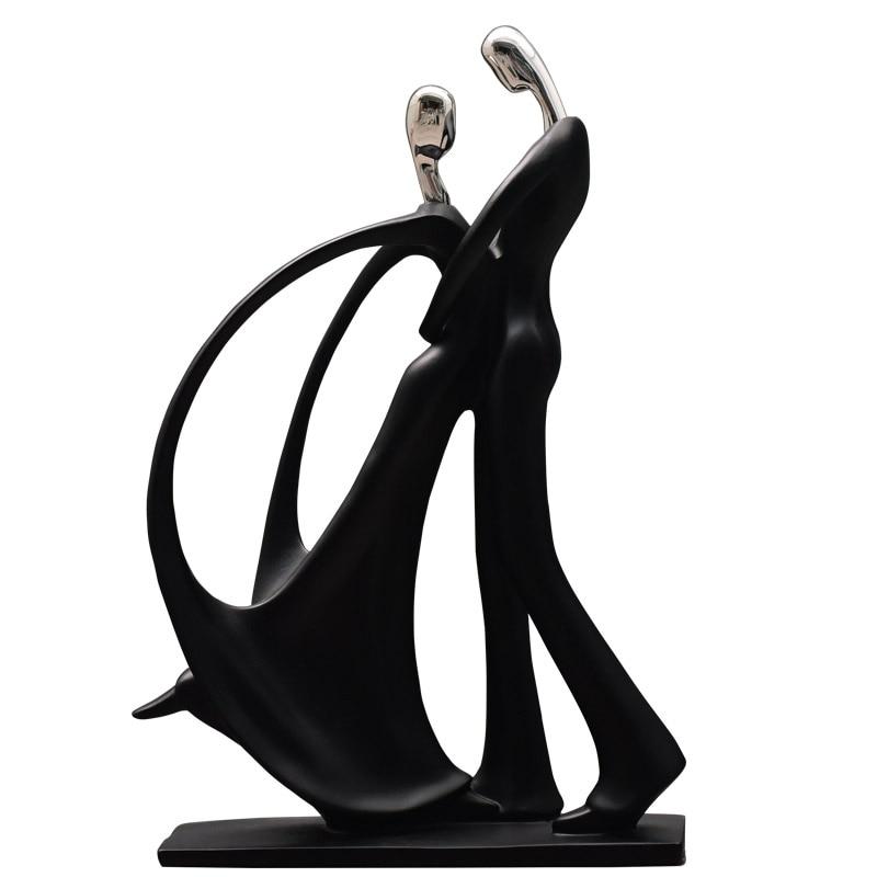 Modern handicraft dancers Resin Tango Statue Waltz Miniature Latin Dancing Figurine Wedding Lover Gift Home Decoration