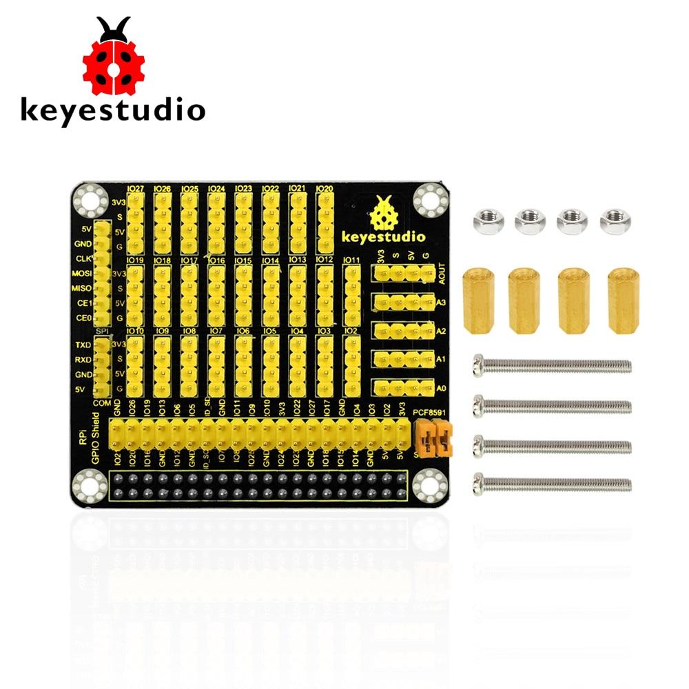 Keyestudio RPI GPIO shield with-PCF8591 AD-DA for Raspberry Pi /CE certification ...