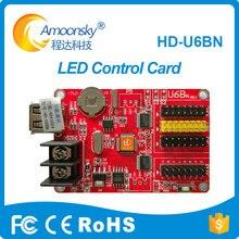 Nova HD-U6BN huidu levou a rolagem de exibição cartão de controle controlador para painéis de led ao ar livre substituir hd-u6b